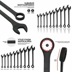 Neiko 03129A Jumbo Combination Wrench Set, 10 Piece | Black