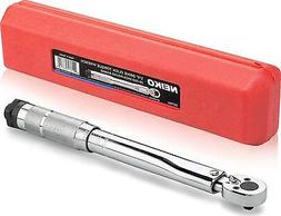 NEIKO 03714A 1/4 Drive Adjustable Click Torque Wrench | SAE