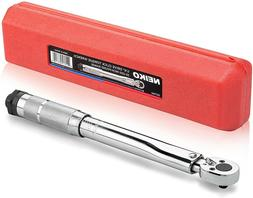 "Neiko 03714A 1/4"" Drive Adjustable Click Torque Wrench 