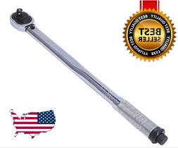 "1/2"" Dr. Torque Wrench Range 10-150 ft/lb 18"" Long Click-T"