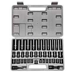 """CASOMAN Complete 3/8"""" and 1/2"""" Drive Impact Socket Set, In"""