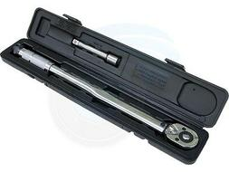 1/2 inch Drive Adjustable Torque Wrench 28-210N-m 125mm Exte