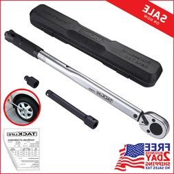 "TACKLIFE 1/2"" Drive Click Torque Wrench Set,With 3/8"" Adap"