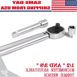 "1/2"" Torque Wrench Snap 3/8"" Socket Drive Click Type Ratchet"