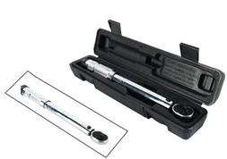 "1/4"" Drive Adjustable Ratchet Click Torque Wrench Hand Tool"