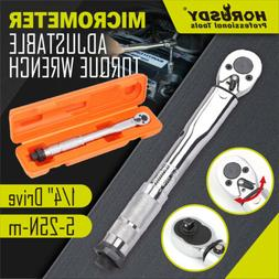 """1/4"""" Drive Click Type Torque Wrench Ratcheting Snap Socket R"""