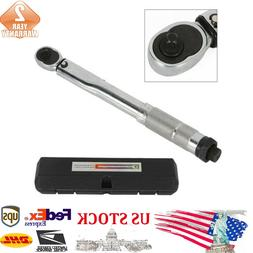 1/4'' Drive Automatic Torque Wrench Click Adjustable 5-25Nm