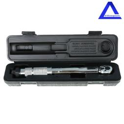 """1/4"""" inch Dr Adjustable Torque Wrench Reversible Clicker Tor"""