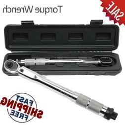 1/4 Inch Drive Adjustable Tool Torque Wrench Click Type Ratc
