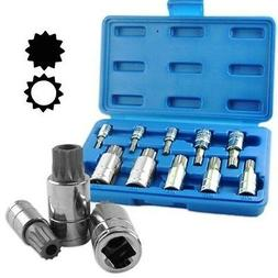 Neiko 10056A XZN Triple Square Spline Bit Socket Set, S2 Ste