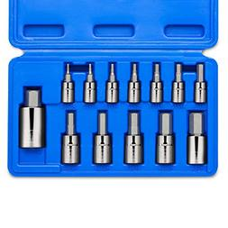 Neiko 10075A Hex Bit Socket Set, S2 Steel | 13-Piece Set | S