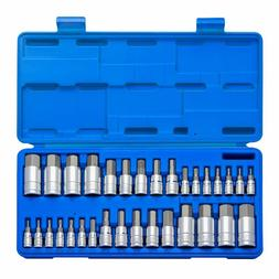 Neiko 10288A Master Hex Bit Socket Set S2 Steel 32 Piece Set