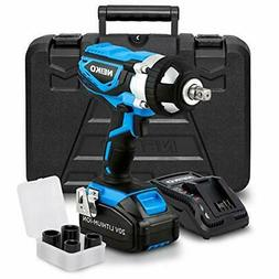 Neiko 10878A 20 V Lithium-Ion Cordless Impact Wrench with