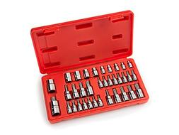 TEKTON Star Bit Socket and E Socket Set for 1/4-Inch, 3/8-In