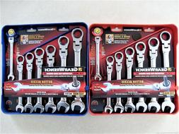 14pc flex head ratcheting combination wrench set