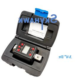 "3/4"" Dr. Digital Torque Wrench Adaptor Micro Meter Unit LED"