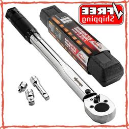 """3/8"""" Torque Wrench Socket Professional Drive Click Micromete"""