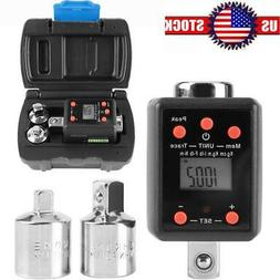 3Pcs/set 2-200Nm Digital Display Torque Wrench Adapter 1/2""
