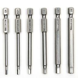 WENROOT 6 sets of 75Mm S2 steel hex head drill screwdriver s