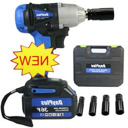 6000mAh Battery 1/2'' Electric Cordless Impact Wrench Drill
