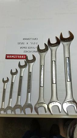 CRAFTSMAN 7PC OPEN END WRENCH SET MM METRIC OR SAE INCH