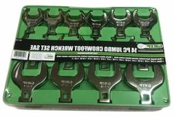 "Grip 14 PC 1/2"" Crowfoot Wrench Set SAE NEW to 2"" 90150"