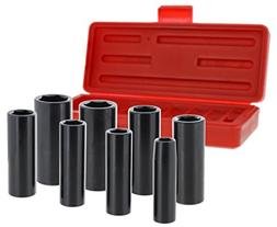 "Drixet 3/8"" Drive Deep SAE/Inch Impact Socket Set 
