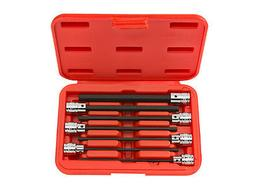 7-pc. 3/8 in. Drive Extra Long Hex Bit Socket Set   TEKTON