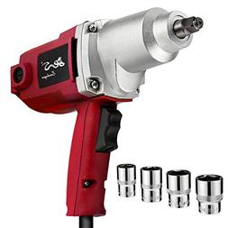 "Topcraft 7.5 Amp 1/2"" Electric Impact Wrench with Sockets an"