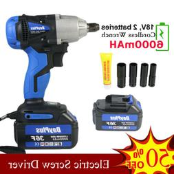 Electric Impact Wrench Cordless Power Impact Wrench 2 Li-Ion