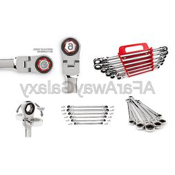 Ex Long Flex-Hd Ratchet Box End Wrench Set 8-19 Mm with Stor