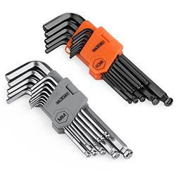 Hex Key Long Arm Allen Wrench Set 13 Allen Keys and 13 Allen