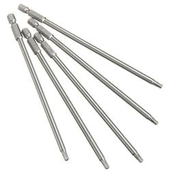 5pcs 1/4 Inch Hex Shank T20 150mm Magnetic Torx Screwdriver