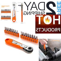 Tacklife HRSB1A 17pcs Mini Ratchet Wrench Screwdriver Bit Se