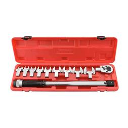 "11pc Interchangeable Spanner Torque Wrench 1/2"" Drive 30' -"