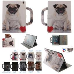 For iPad 2 3 4 Mini Air 2 Pro 10.5 Dog Patterned PU Leather