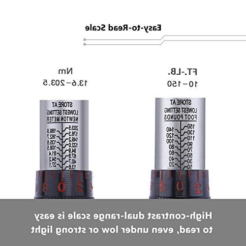 """TACKLIFE 1/2"""" Click Torque Wrench Set,With Adapter Bar -"""