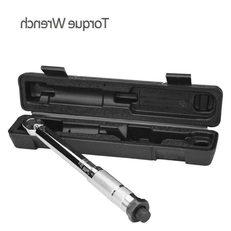 1/4 Inch Preset Adjustable Type Ratcheting Torque Wrench Too
