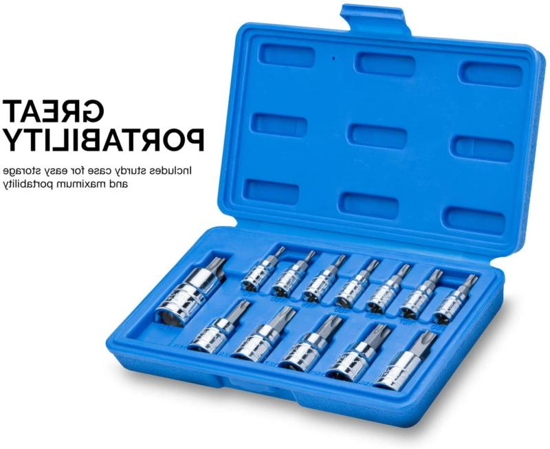 Neiko Torx Bit Socket Set, Metric, | And Cr-V