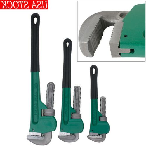 3pcs 14 18 24 aluminum pipe wrench
