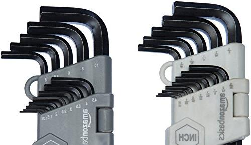 AmazonBasics Hex Allen Wrench Ball End 26 Piece