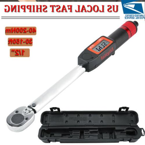 "NEW Torque Wrench Digital 1/2""Drive 40~200 Nm 30–150"