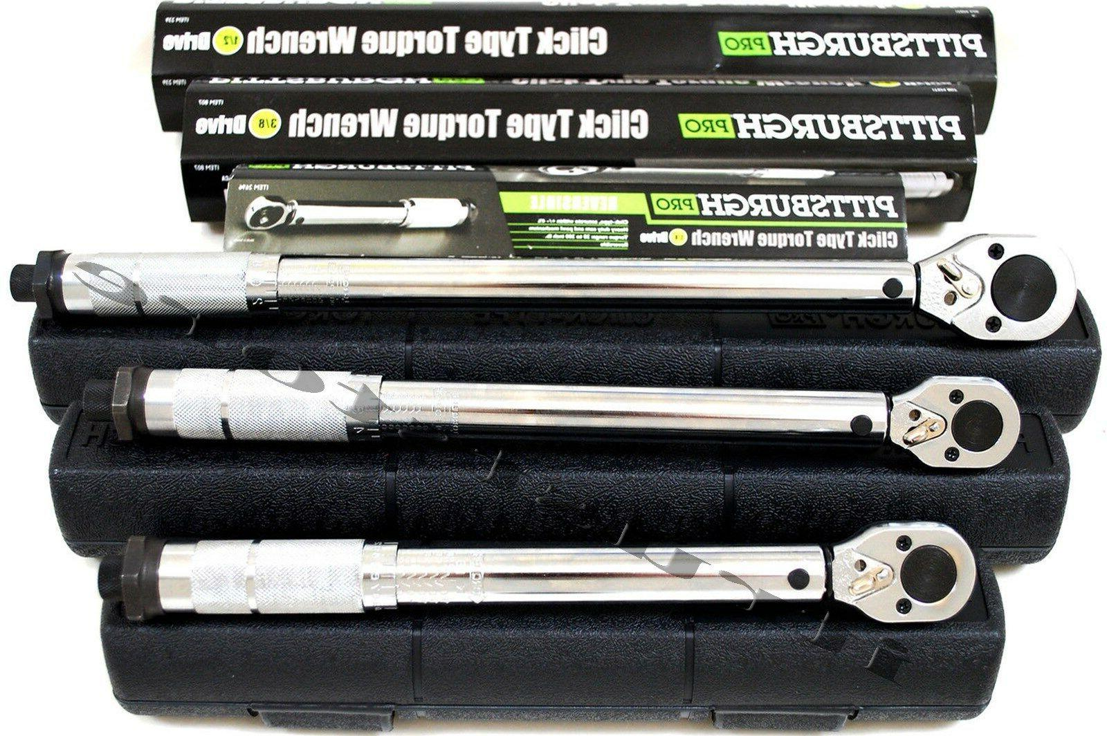 pittsburgh click stop torque wrench 1 2