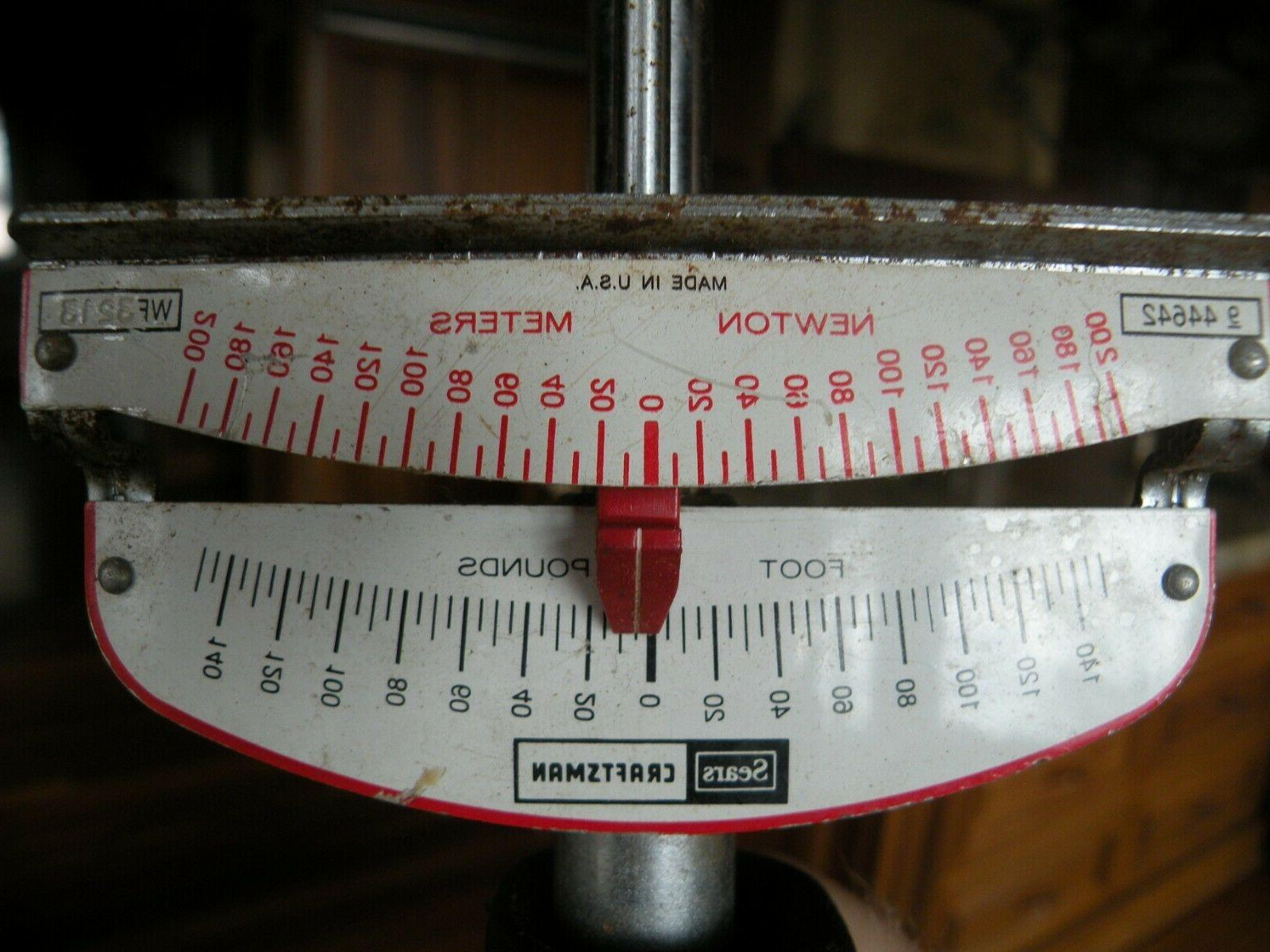 """Sears 1/2"""" Beam Torque condition. inches"""