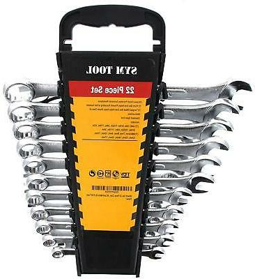 Wrench Set, 22 Piece, Combo Set SAE and Metric By SYM Tools