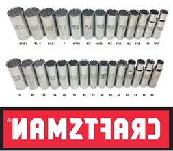 """Craftsman Laser Etched Easy Read 28 Piece SAE & Metric 1/2"""""""