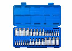 Master Hex Bit Socket Set Standard SAE Metric Sized Power Ha