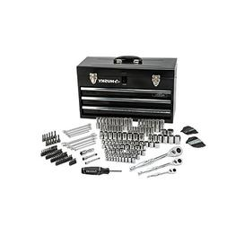 Husky Mechanics Tool Set in Metal Box 200 Piece Standard Rat