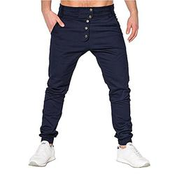 Spbamboo Mens Pants Clearance Fashion Sport Pure Color Casua