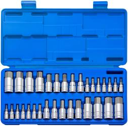 Neiko 10288A Master Hex Bit Socket Set, S2 Steel 32-Piece Se